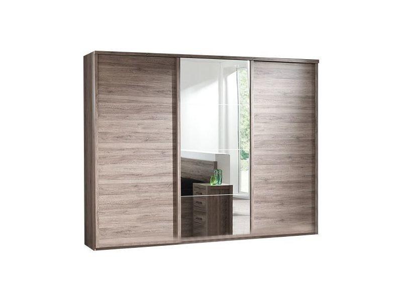 Armoire 280 cm à 3 portes coulissante pour chambre adulte p-7543-co ...