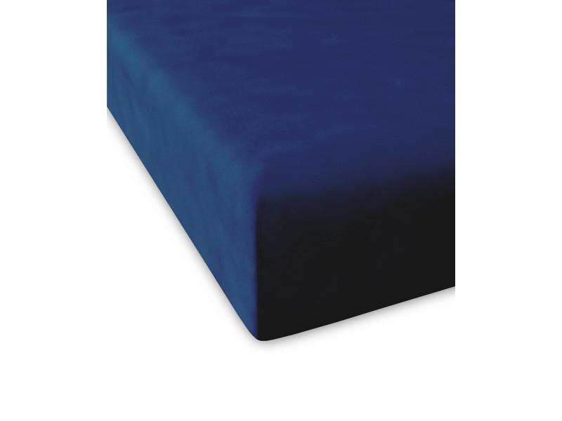 Drap housse casual |200x200+28 cm|bleu marine 60875