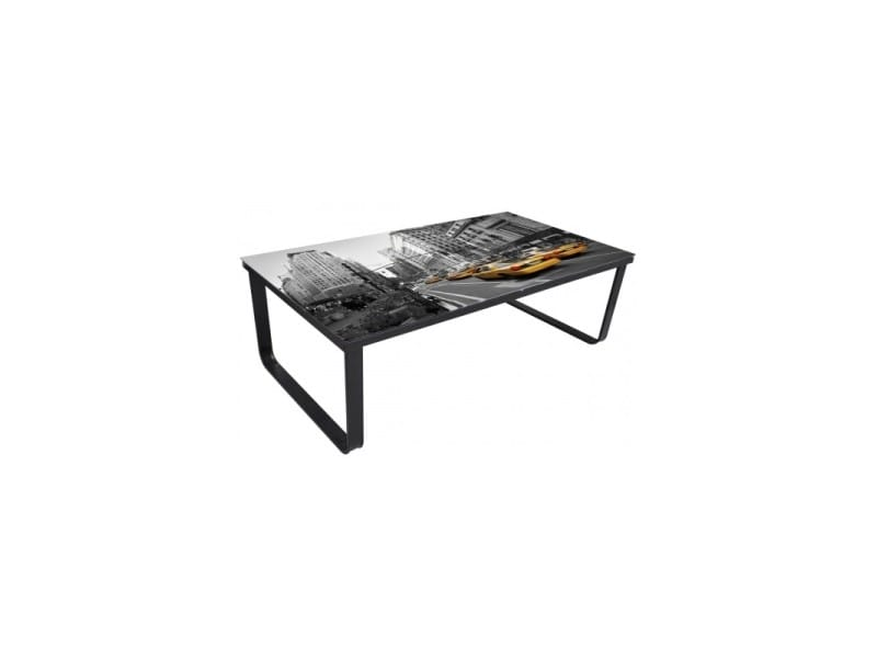 Table basse de salon design verre new york 0902024 helloshop26 0902024/b