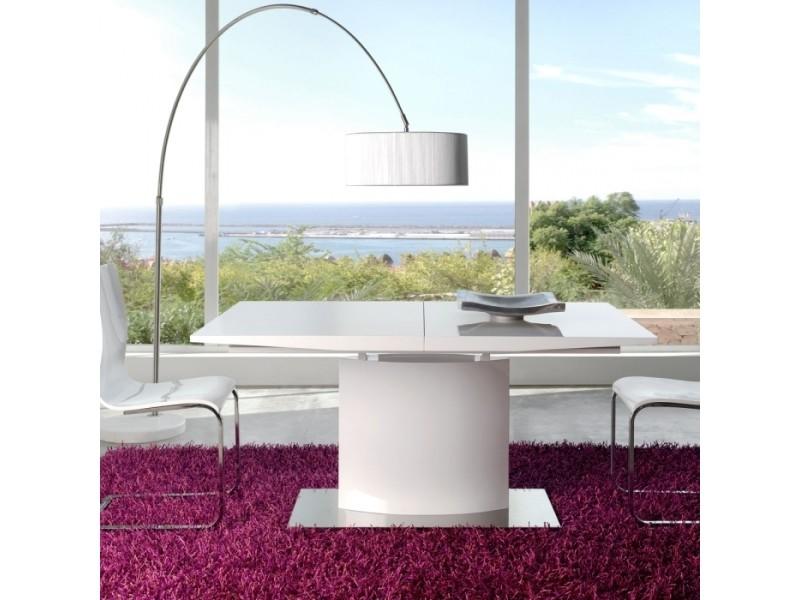 Table design collection blanc zendani 90 x 160/200 par zendart sélection