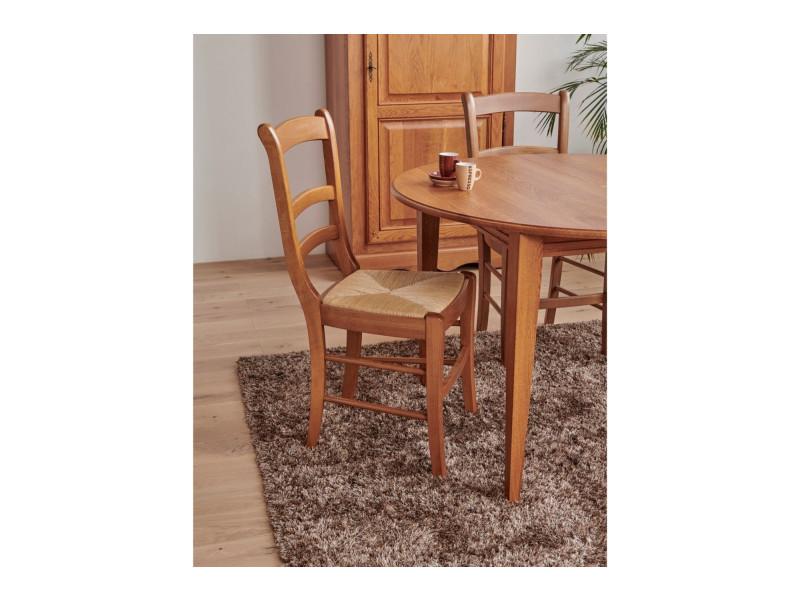lot de 2 chaises louis philippe en bois massif vente de hellin conforama. Black Bedroom Furniture Sets. Home Design Ideas