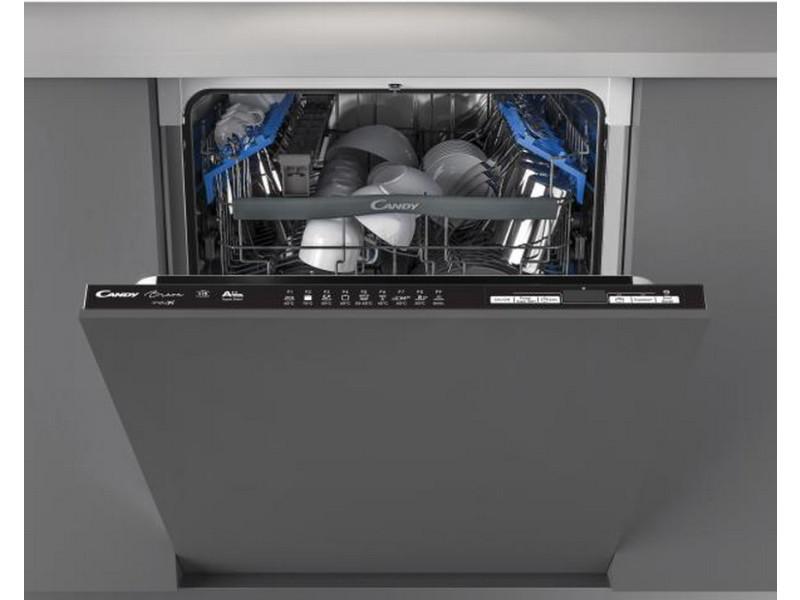 Lave vaisselle encastrable 60 cm - 15 couverts - full - electronique : candy - cdin2d520pb