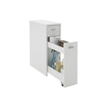 Meuble de salle de bain avec tiroir module gigogne bois for Module salle de bain