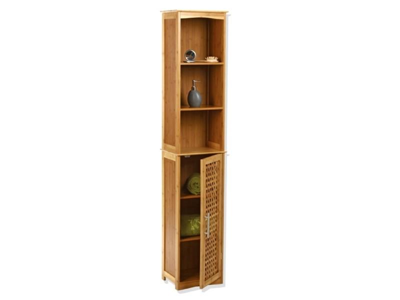 Etag re colonne de rangement pour salle de bain d cor for Colonne salle de bain en bambou