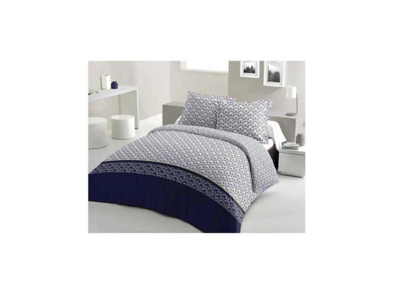 Parure de couette coton rainbow - bleu marine - 240x260 cm LOV5037632622077