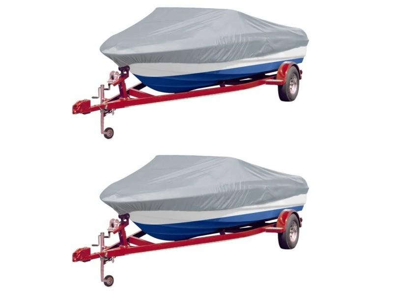 Superbe housses de protection pour véhicules famille tunis housses de bateau 2 pcs gris longueur 519-580 cm largeur 244 cm
