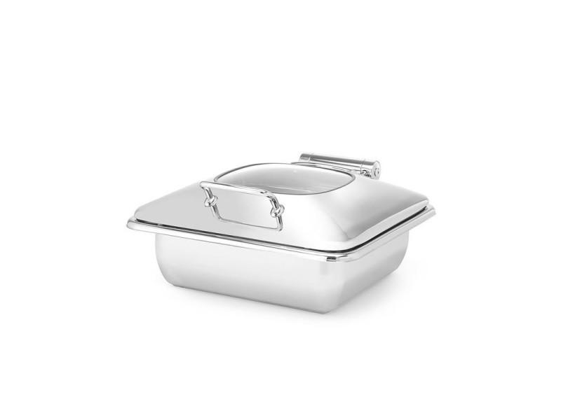 Chafing dish premium avec couvercle en verre gn 2/3 - fine dine -
