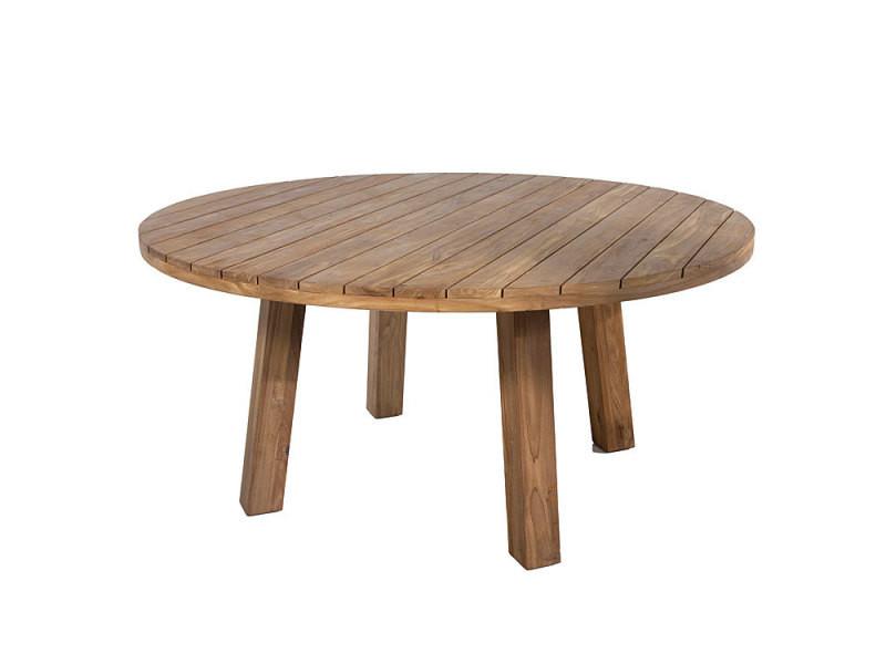 Table ronde en teck massif recyclé d 165 cm kingsport