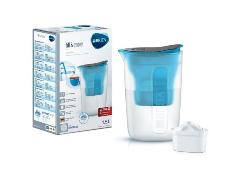 Carafe filtrante fun 1,5 l + 1 cartouche maxtra+ bleu BRI4006387076559