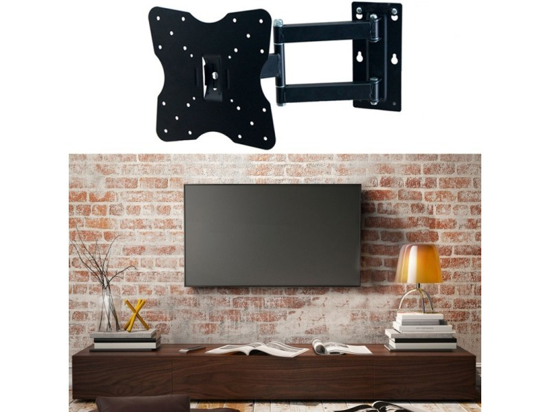 support tv mural pivotant et inclinable capacit 25 kg ecran lcd led plasma vente de id. Black Bedroom Furniture Sets. Home Design Ideas