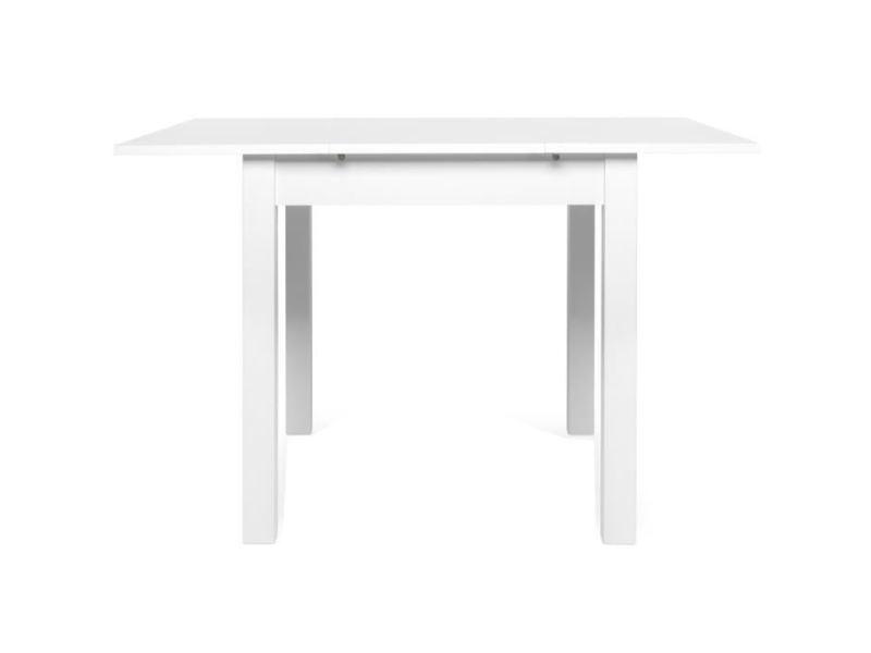 Table a manger seule coburg table a manger extensible de 4 a 6 personne classique blanc - l 80-120 x l 80 cm