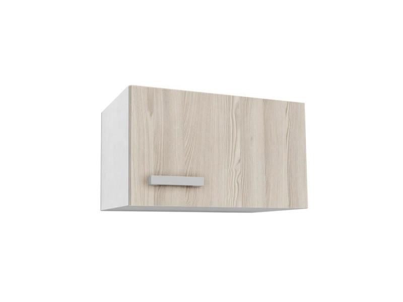 Start meuble hotte de cuisine l 60 cm - décor frene sablé