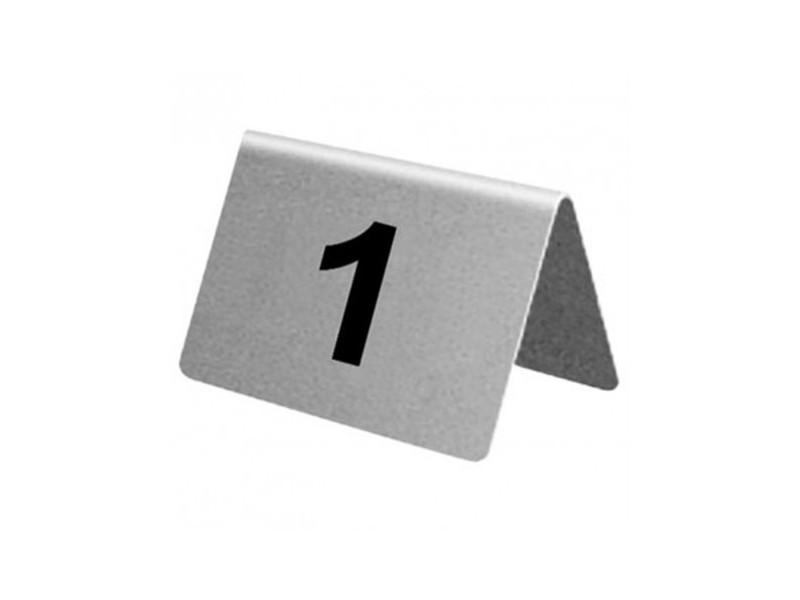 Lot de numéros de table en acier inoxydable olympia de 31 à 40 -