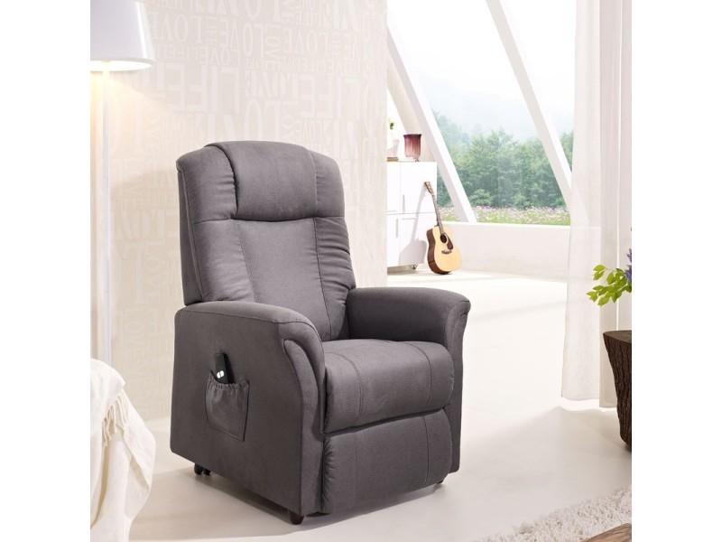 fauteuil releveur 2 moteurs gris fonc liberty l 80 x l 80 158 x h 92 110 neuf vente. Black Bedroom Furniture Sets. Home Design Ideas