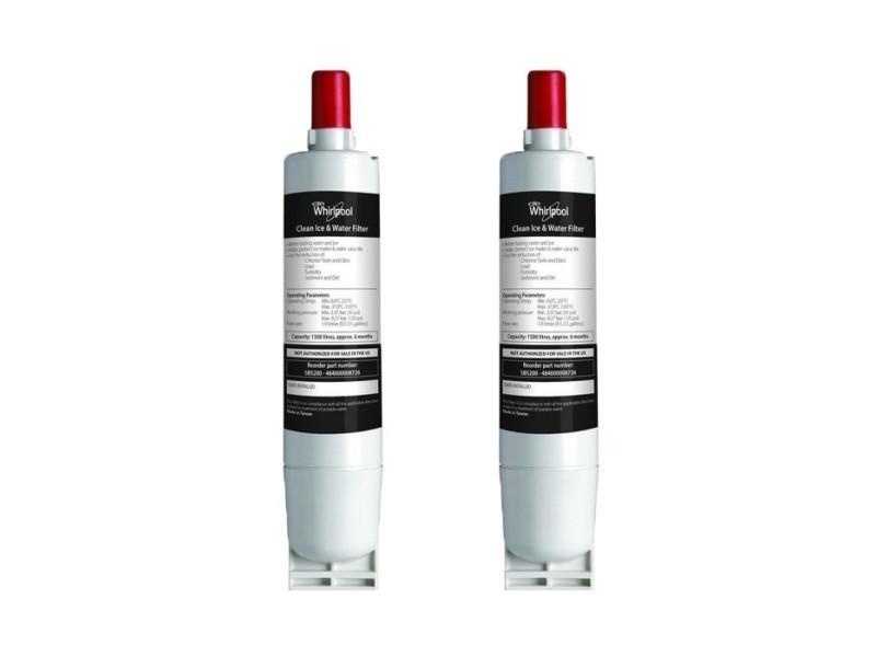 Lot de deux filtres a eau original whirlpool sbs002 pour refrigerateur americain