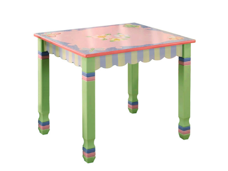 Table Enfant Magic Garden En Bois Chambre Bébé Fille Sans Chaise W