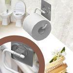 Porte-rouleau de toilettes contemporain en abs