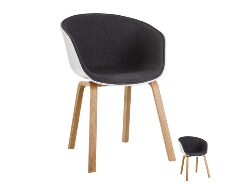 x l macaron gris h 51 l 58 x Duo de tissu chaises foncé hdxCBQrts