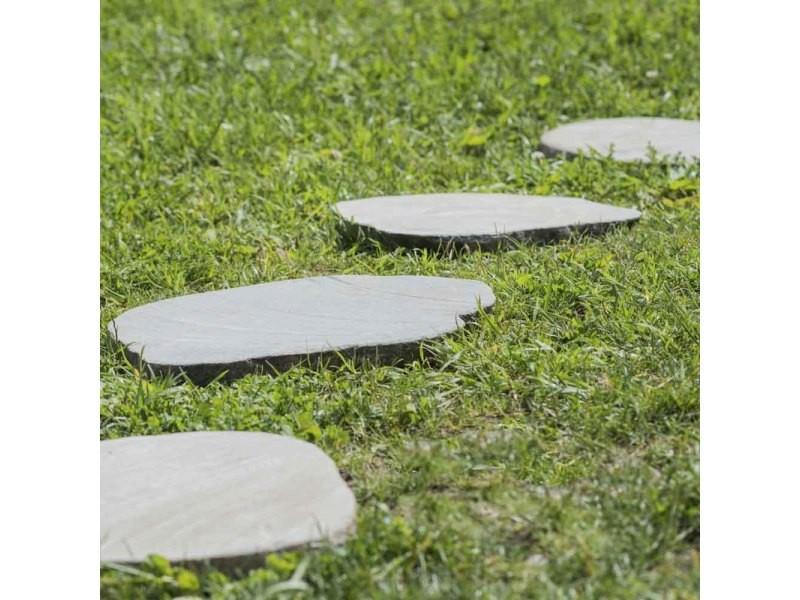 5 pas japonais en pierre galet de rivi re 50 55cm 20032 vente de pot jardini re bac fleurs. Black Bedroom Furniture Sets. Home Design Ideas