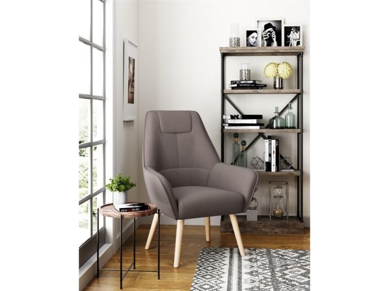 Copenhague fauteuil scandinave gris 434843