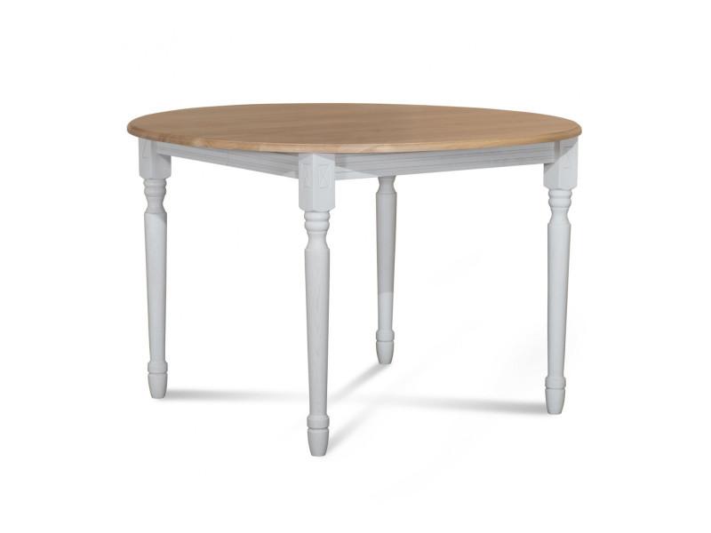 Table ronde pieds tournés victoria - bois chêne blanc - Vente de HELLIN -  Conforama c2172f04b16d