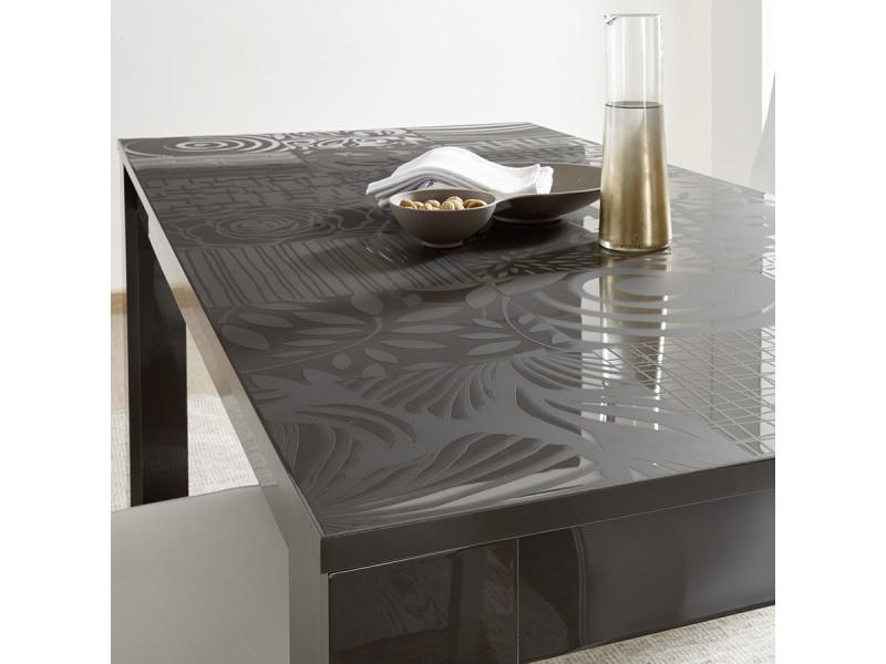 Salle à manger grise laquée design buffet 3 portes + table elma 2 ...
