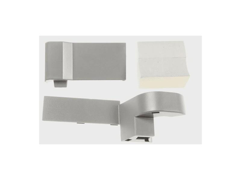 Kit montage porte a gauche inox gris pour refrigerateur samsung - da91-04476a