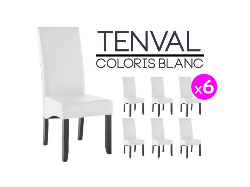 Tenval Lot De 6 Chaises Blanches Vente De Altobuy Conforama