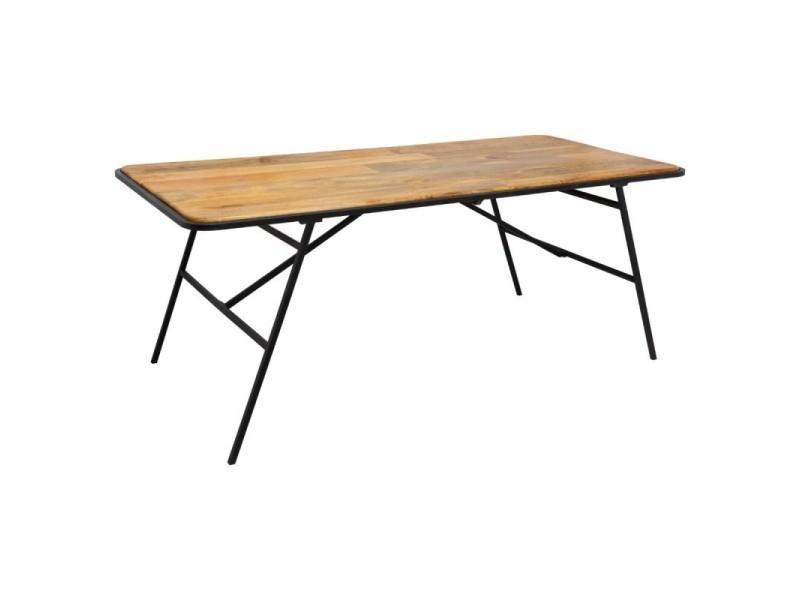 Table salle manger 200 cm kalida bois massif atmosphera