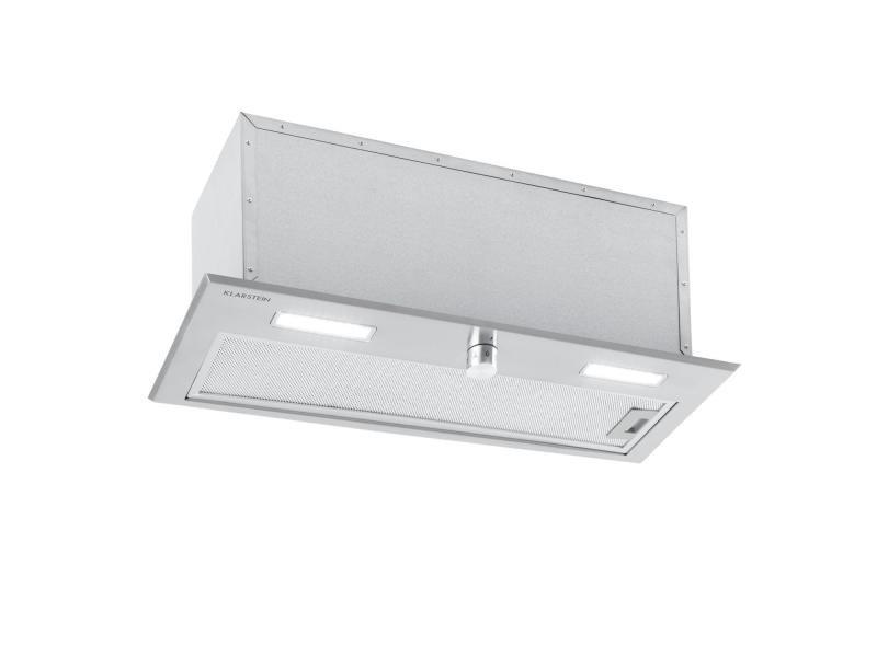 Klarstein simplica hotte aspirante encastrable 70 cm - extraction 400 m³ / h - inox argent DSM-Simplica70