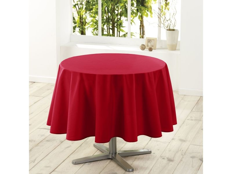 Nappe ronde 180 cm rouge 1720251-rouge