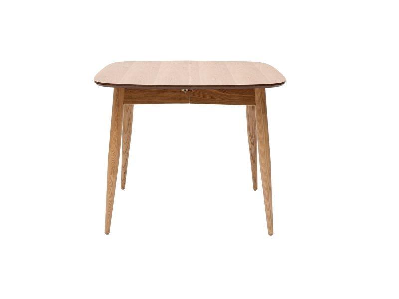 Table à manger extensible frêne naturel l90-130 cm nordeco