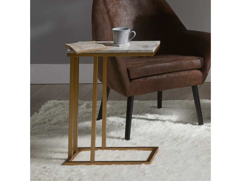 Tables Table dappoint Bois Moderne Versanora Marmo Effet ...