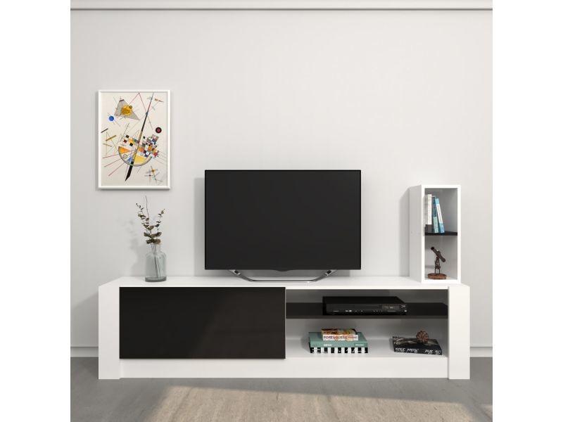 Meuble Tv Design Gomez L 180 X H 43 Cm Noir Vente De Meuble