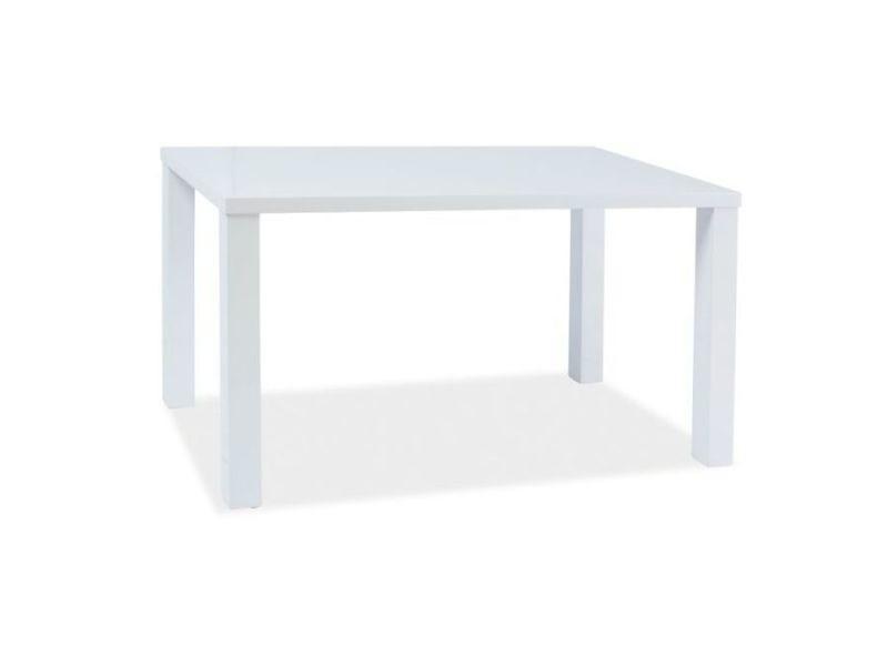 Montegi - table élégante de style minimaliste - dimensions : 80x60x75 cm - plateau et piètement en mdf laqué - blanc