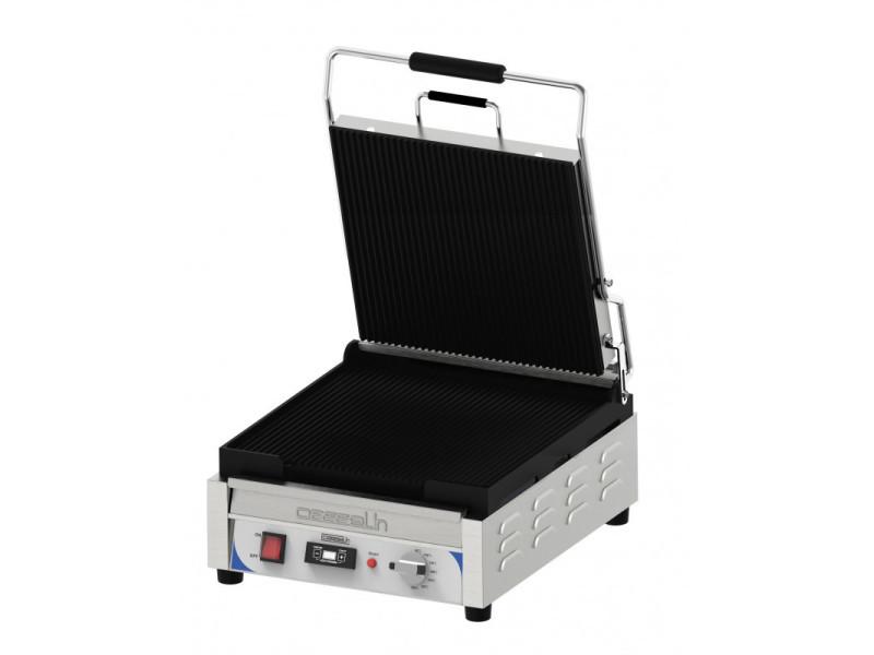 Grill panini xl premium rainurée / rainurée avec minuteur - casselin - inox