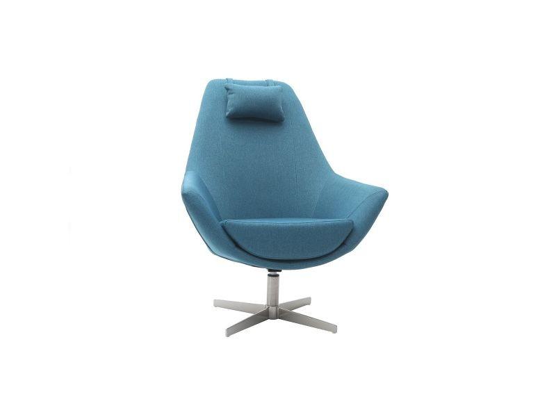 Tissu Métal Pied Design Et Fauteuil Pivotant Canard Amadeo Bleu En 4qRL35Aj