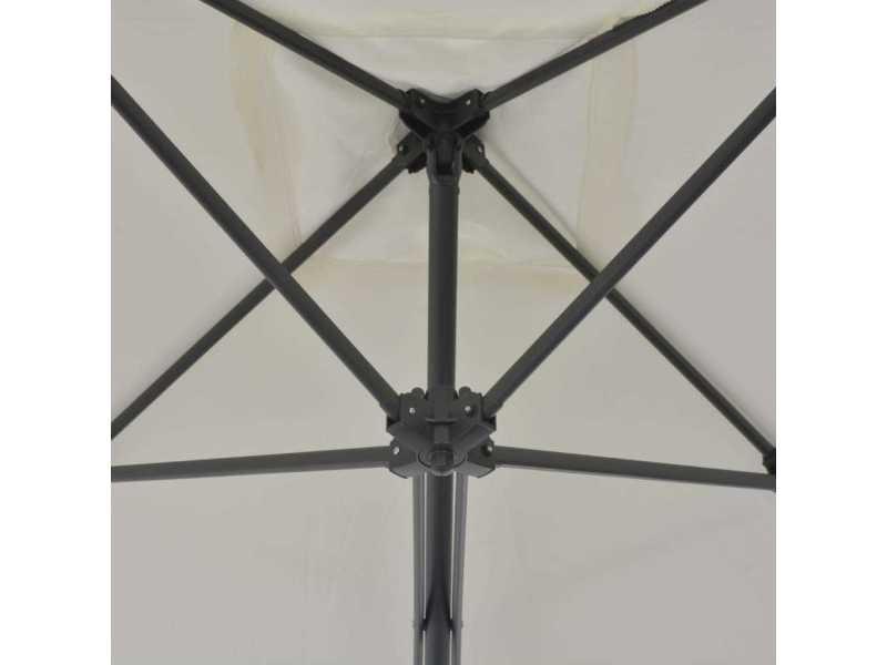 Icaverne - parasols et voiles d'ombrage collection parasol d'extérieur avec poteau en acier 250 x 250 cm sable