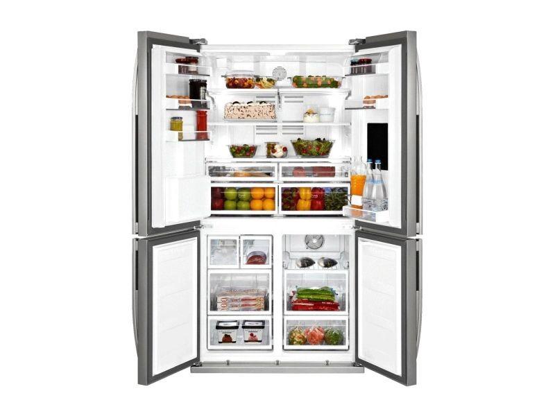 beko r frig rateur frigo am ricain 4 portes inox 522l a. Black Bedroom Furniture Sets. Home Design Ideas