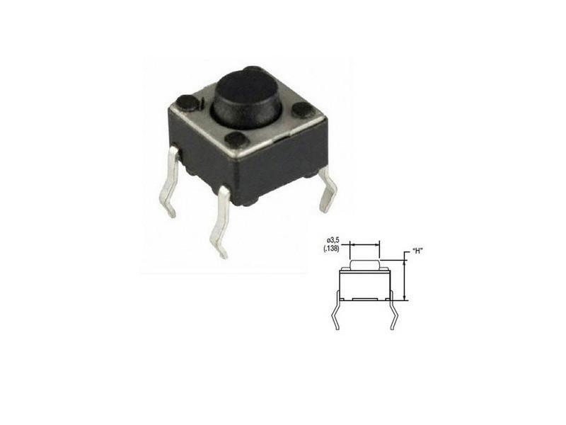 bouton poussoir micro haut du bouton 1 5 reference 287468 vente de divers conforama. Black Bedroom Furniture Sets. Home Design Ideas