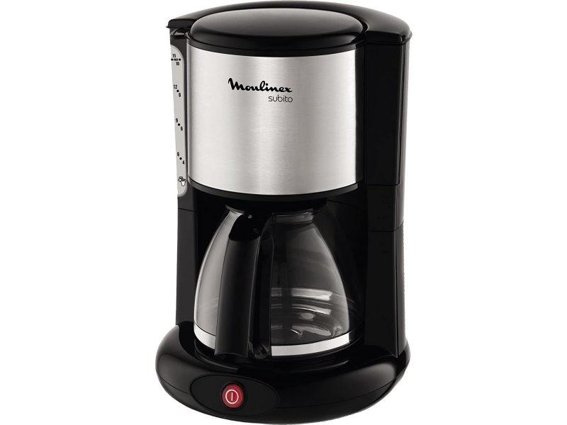 Cafetière électrique de 1,25l pour 10 a 15 tasses 1000w gris noir
