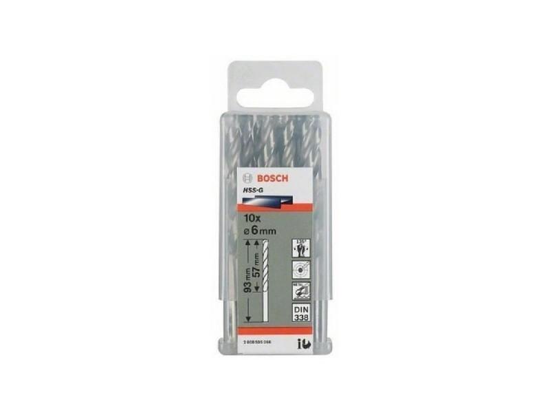 Bosch forets a métaux rectifiés - hss-g - din 338 - diametre 1,6 x 20 x 43 mm
