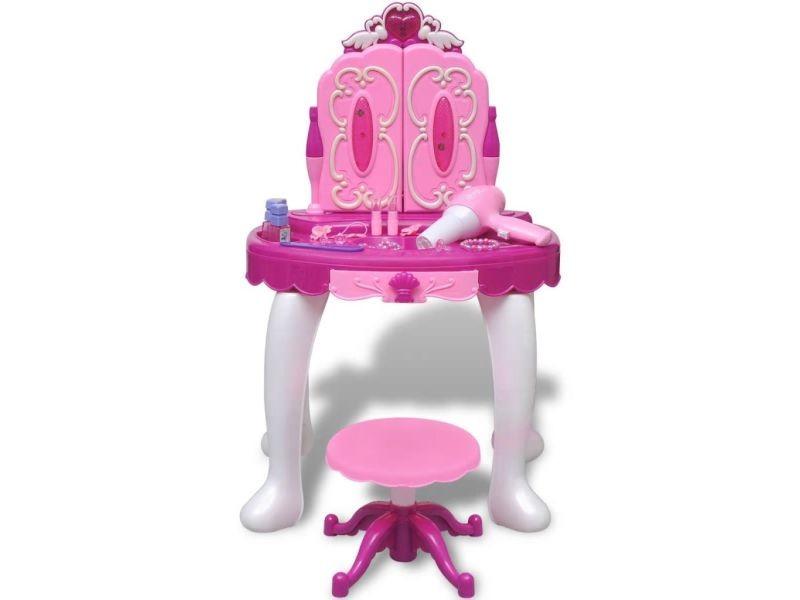 vidaxl coiffeuse de jouet avec lumi re son et 3 miroirs. Black Bedroom Furniture Sets. Home Design Ideas