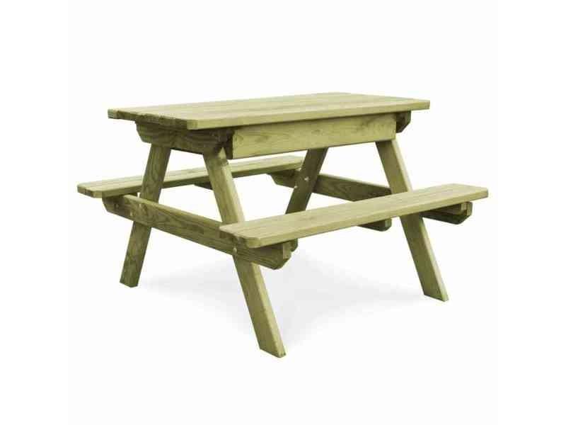 Inedit meubles de jardin categorie singapour table de pique-nique avec bancs bois de pin imprégné fsc
