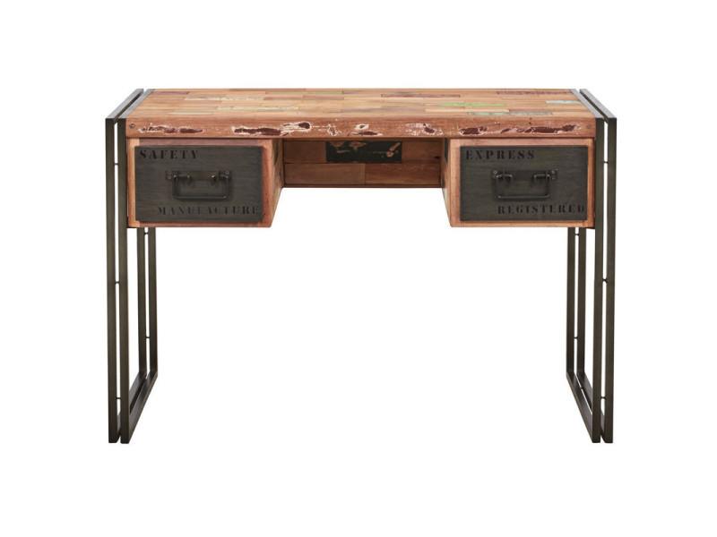 Bureau en bois industry l 120 x l 60 x h 80 neuf vente de