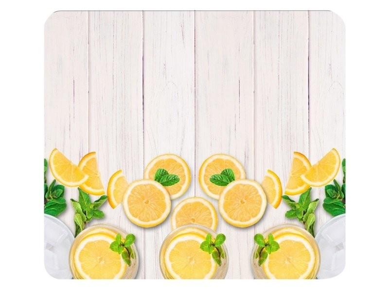 Protège-plaque vitrocéramique citrons - l. 50 x l. 56 cm - jaune