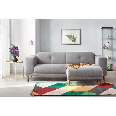 canape 3 places luna avec pouf enjoy gris clair 5906395169634 vente de bobochic conforama. Black Bedroom Furniture Sets. Home Design Ideas