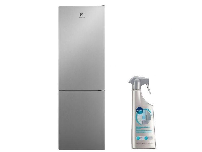 Réfrigérateur frigo combiné inox 324l froid ventilé no frost multiflow
