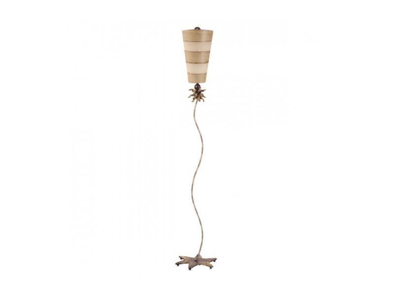 Lampadaire anemone, taupe et crème