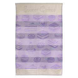Torchon de cuisine toile 50x70 cm cakes violet